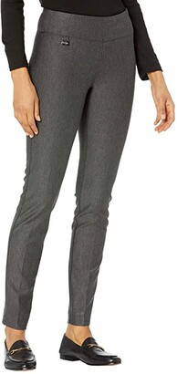 Lisette L Montreal Wellington Stretch Twill Slim Leg Pants (Charcoal) Women's Casual Pants