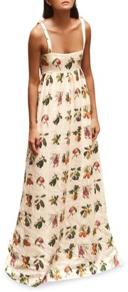 Agua Bendita Verbena Floral Maxi Dress