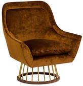 Kim Salmela Larson Accent Chair - Cognac Velvet