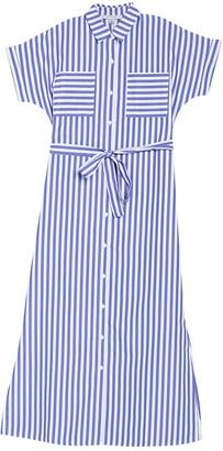 FAVLUX Stripe Print Shirt Dress