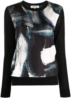 Diane von Furstenberg graphic print crewneck jumper