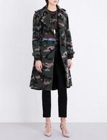 Valentino Camouflage-print cotton-gabardine trench coat