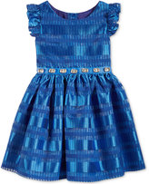 Sweet Heart Rose Embellished Shadow Striped Dress, Little Girls (2-6X)