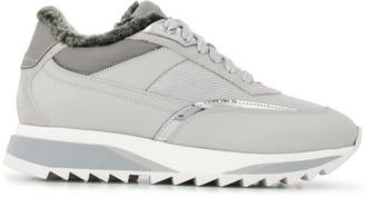 Santoni Fur Lining Sneakers