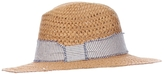 Hat Attack Cane Weave Rancher Hat With Striped Band