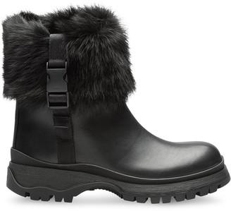 Prada Fur Cuff Boots