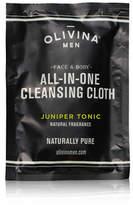 OLIVINA MEN All-in-One cleansing Cloths - Juniper Tonic