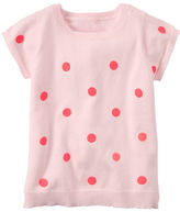 Carter's Short-Sleeve Neon Polka Dot Sweater