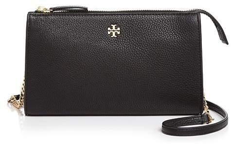 3f64717c3 Tory Burch Black Shoulder Bag Gold Logo - ShopStyle