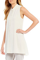 Eileen Fisher Stand Collar Sleeveless Tunic