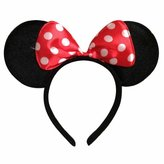 Disney Minnie Mouse Costume Ears Baby Infant Toddler Headband White Dots Red Bow