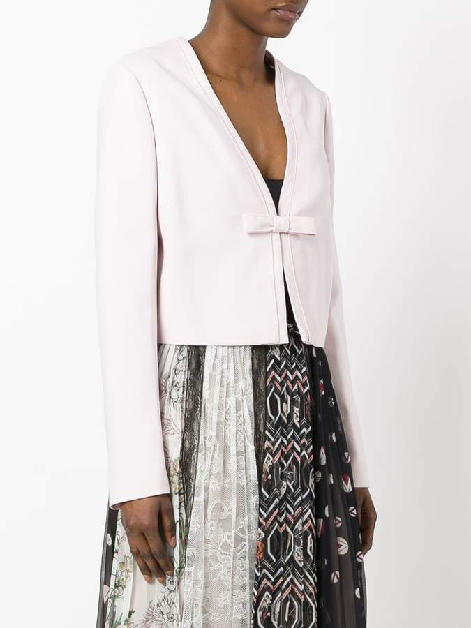Giambattista Valli cropped bow jacket
