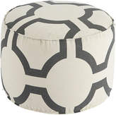 Signature Design by Ashley Printed Geometric White Pouf