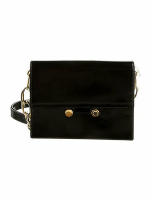 Marni Patent Leather Caddy Bag Black