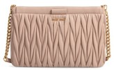 Miu Miu Matelasse Leather Clutch - Orange