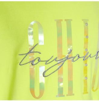 River Island Girls Chic Ruffle Sleeve T-shirt -Yellow