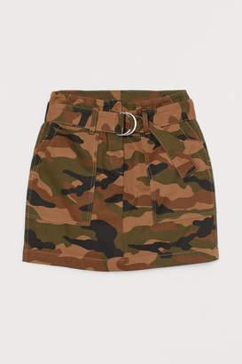 H&M Patterned Cargo Skirt - Green
