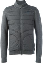 Hackett knitted sleeve padded jacket