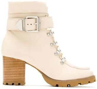 Schutz Side Buckled Mid Heel Boots