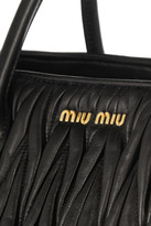 Miu Miu Large matelassé leather tote