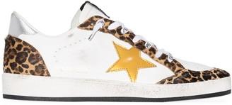 Golden Goose Ball Star leopard-print sneakers