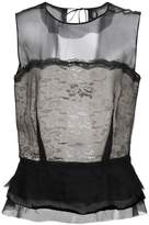 Maison Margiela sheer peplum blouse