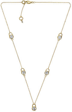 Michael Kors Small Lock Station Necklace, Golden