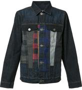 Mostly Heard Rarely Seen checked detailing denim jacket - men - Cotton - S