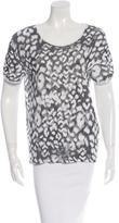 Sandro Printed Short Sleeve Top w/ Tags