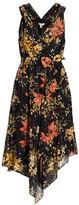 Joie Pharrah Floral Silk-Blend Dress