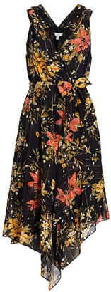 Joie Pharrah Floral Silk-Blend Dress