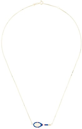 ALIITA 9kt Gold Tennis Racket Necklace