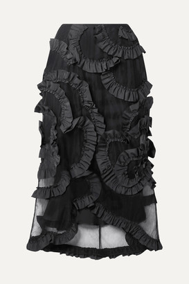 MONCLER GENIUS + 4 Simone Rocha Ruffled Shell-trimmed Tulle Midi Skirt