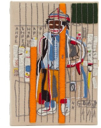 Olympia Le-Tan Basquiat 'anthony Clarke'-embroidered Clutch Bag - Beige Multi
