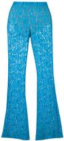 Moschino flared lace trousers - women - Polyamide/Polyester/Rayon - 42
