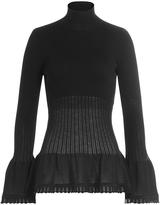 Alberta Ferretti Virgin Wool Turtleneck Pullover