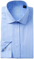 English Laundry Pencil Stripe Trim Fit Dress Shirt