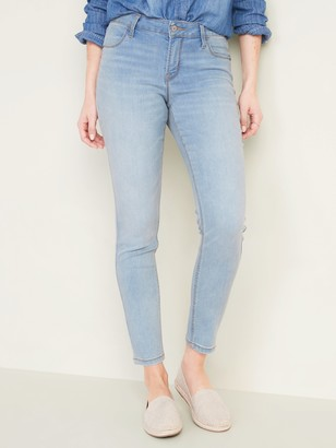 Old Navy Mid-Rise Light-Wash Super Skinny Ankle Jeans for Women