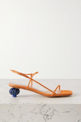 Jacquemus Manosque Two-tone Suede Sandals - Orange