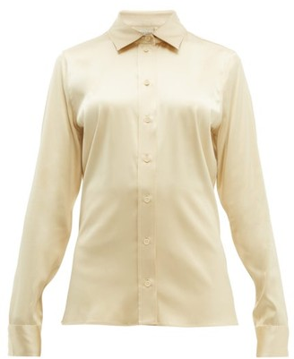 Bottega Veneta Point-collar Silk-blend Charmeuse Shirt - Cream