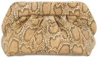 Themoire Bios Python Printed Faux Leather Clutch