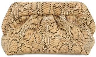 Themoirè Bios Python Printed Faux Leather Clutch