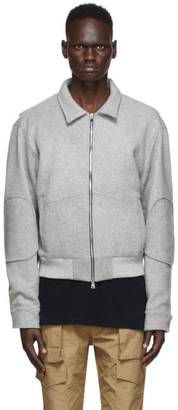 Nahmias Grey Wool Workman Jacket