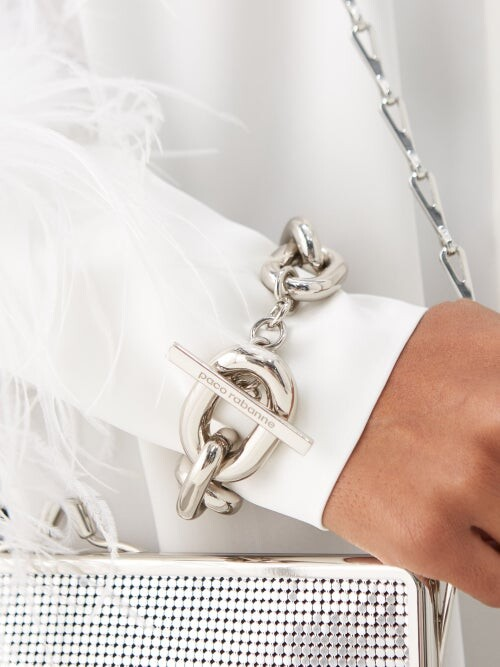 Thumbnail for your product : Paco Rabanne Xl Link Metal Bracelet - Silver