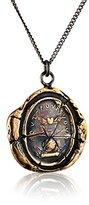 "Pyrrha Bronze Winged Heart Talisman Necklace, 18"""