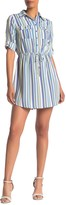 BeBop 3/4 Sleeve Stripe Shirt Dress