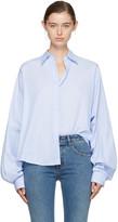 MM6 MAISON MARGIELA Blue Striped Poplin Shirt