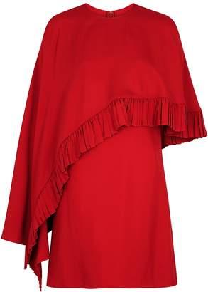 Valentino Red Cape-effect Dress