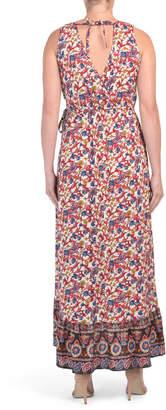 Juniors Floral Print Maxi Dress
