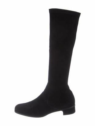 Aquatalia Suede Riding Boots Black